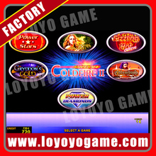 hot slaes NEW 2015 video game board arcade slot game machine coldfire II 6 in 1 with wire(China (Mainland))