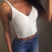 Tao Town Women's vest New Fashion Knit Crop Women Slim Sling Tank Top Camis Blouse Sport Vest freeshipping(China (Mainland))