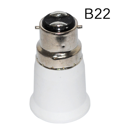 B22 to E27 adapter High quality PC material fireproof material socket adapter for Led Bulb(China (Mainland))