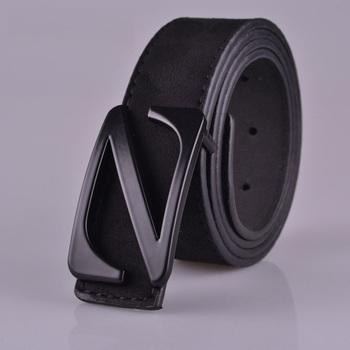 2015 fashion flock leather belt men and women high quality Z buckle men belt mens belts luxury brand leather belt for men women
