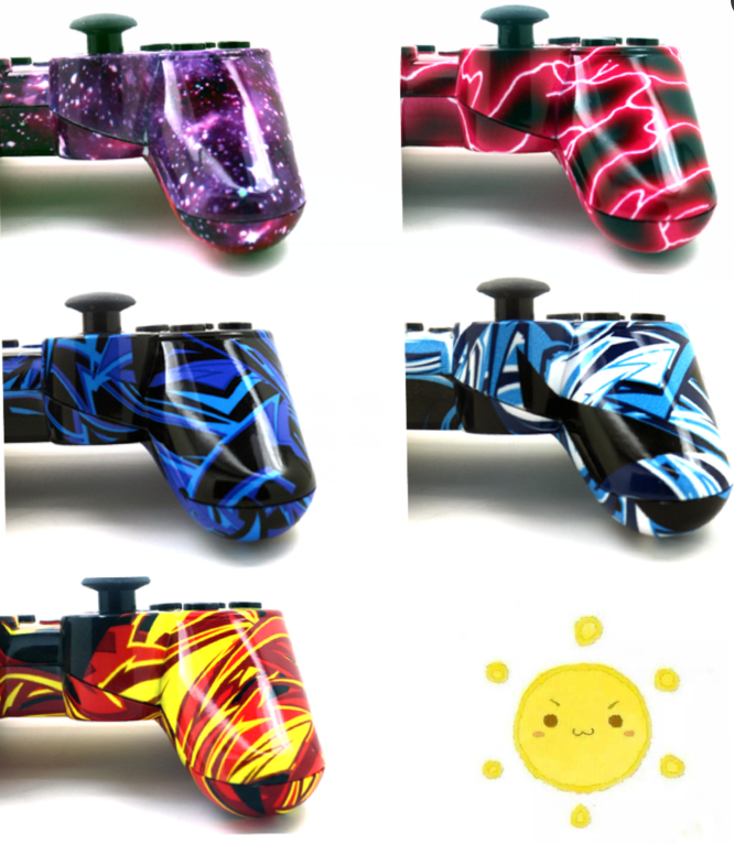 5 kinds of styles of Bluetooth wireless game controller for Sony PlayStation3 PS3 SIXAXIS joystick handle vibration CONTROLE(China (Mainland))