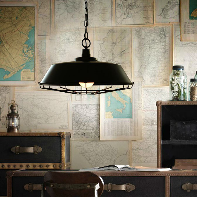 Dia.36CM Nordic Retro Lamp Country Style Bar Loft Vintage classical Metal frame pendant Lighting Free Shipping(China (Mainland))
