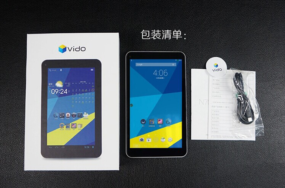 Vido N70 8GB IPS 1024 600 Quad Core Tablet with English Leather Case Leather Protector Protective