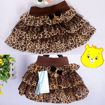 NEW Style Kids Toddlers Girls Black white coffee leopard Tulle Tutu Dance Skirts 2-6 Years