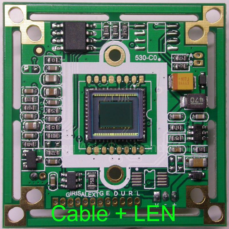 "Panasonic HD 1/3"" CCD image sensor board, Nextchip NVP2041 DSP, 800TVL, CCTV board, camera module, with cable + LEN.(China (Mainland))"
