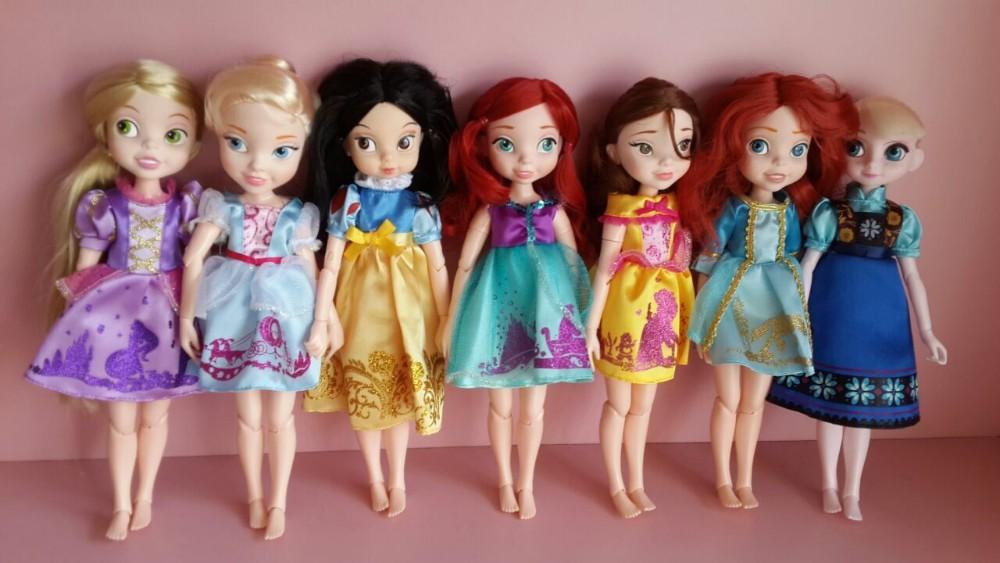 Free shipping Princess doll plastic girl mini doll elsa doll snow white,belle,Cinderella,Rapunzel, Ariel ,Menida(China (Mainland))