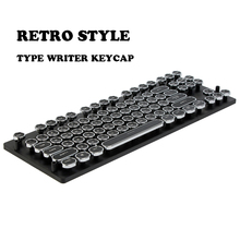 Buy 87/108 ABS Keys Round Keycap Retro Typewriter Keycap Steampunk Dreamer Personality Keycap Wired USB Mechanical Keyboard for $35.80 in AliExpress store