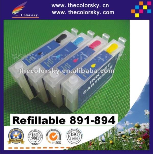 (RCE-891-894) 5 sets refillable refill ink cartridge for Epson T0891-T0894 89 BK/C/M/Y Stylus S20/SX100/SX105/SX200/SX205/SX400