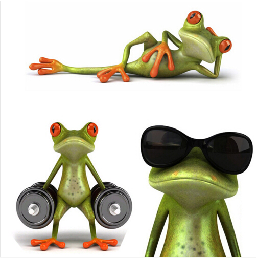 New arrival 3D Frogs Funny Car Stickers car styling vinyl decal sticker decoration High temperature & water Proof(China (Mainland))