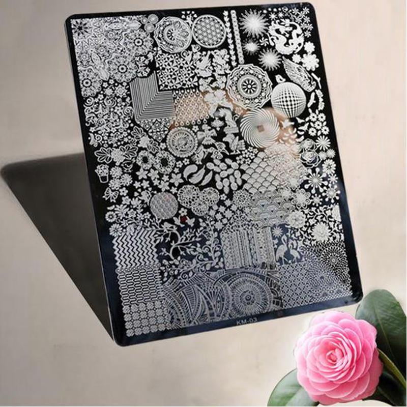 New Lace Design Nail Stamping Plates Nail Art Image Konad Stamping Nail Art Plates stock template Nail Tool(China (Mainland))