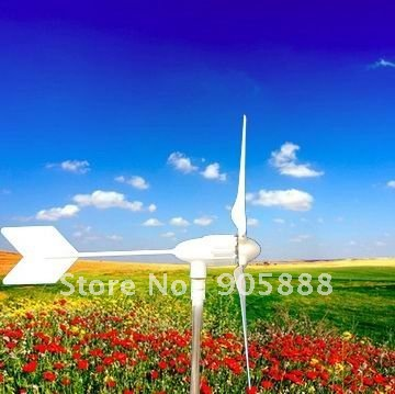 Free shipping! 600W DC12V 24V 5 blades wind power generator/wind turbine/windmill(China (Mainland))