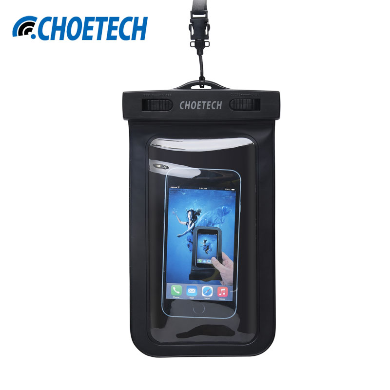 CHOETECH 30M Waterproof Pouch Universal Mobile Phone Bag Swimming Case Easy Take Photo Underwater For iPhone / Samsung And So On(China (Mainland))