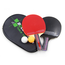 Quick Attack Carbon Fiber Table Tennis Racket Blade With Double Face Pimples-in Racket Rubber Bat Shakehand Ping Pong Racket(China (Mainland))