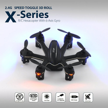 Black MJX X901 X Series Mini 6 Axis Gyro 2.4G 3D Roll Nano RC Hexacopter Drone