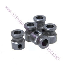 3PCS Newest ID 5mm OD 9mm MK8 stainless steel extrusion gear For Reprap Makerbot 3d printer 1.75/3.0mm filament