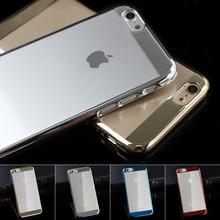 Роскошные золотые гальванизируйте линейный EX ясно чехол для Iphone 6 6 S 4.7 дюймов прозрачный твердый переплет для Iphone 6 S 6 телефон сумка обложки