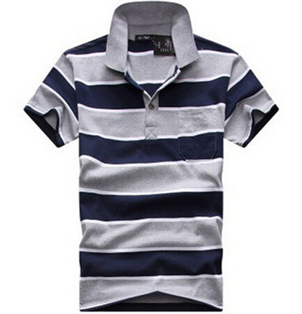 Male Striped College Tennis Sport Casual Cotton Short Sleeve Men Polos Drop Shipping MST064(China (Mainland))