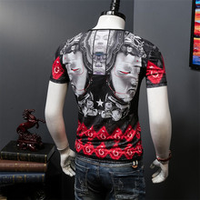 Buy Summer new Japanese style 3D printing men short sleeve T-shirt young man individuality round collar skull half sleeve fashion br for $22.10 in AliExpress store