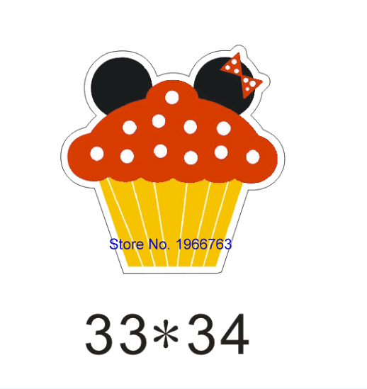 Free shipping 50pcs/lot 33*34MM inspired cartoon mouse cupcake planar resin(China (Mainland))
