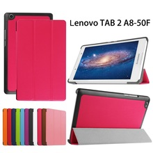 Ultra Slim Stand Case for Lenovo A5500 Case Tablet,8 inch Folding Folio PU Leather Smart Cover for Lenovo Tab A8-50 Case+Stylus