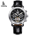 Mens Automatic Mechanical Diver Watch Luxury Sapphire Multi Functional Genuine Leather Strap Tourbillon Calendar Self Wind