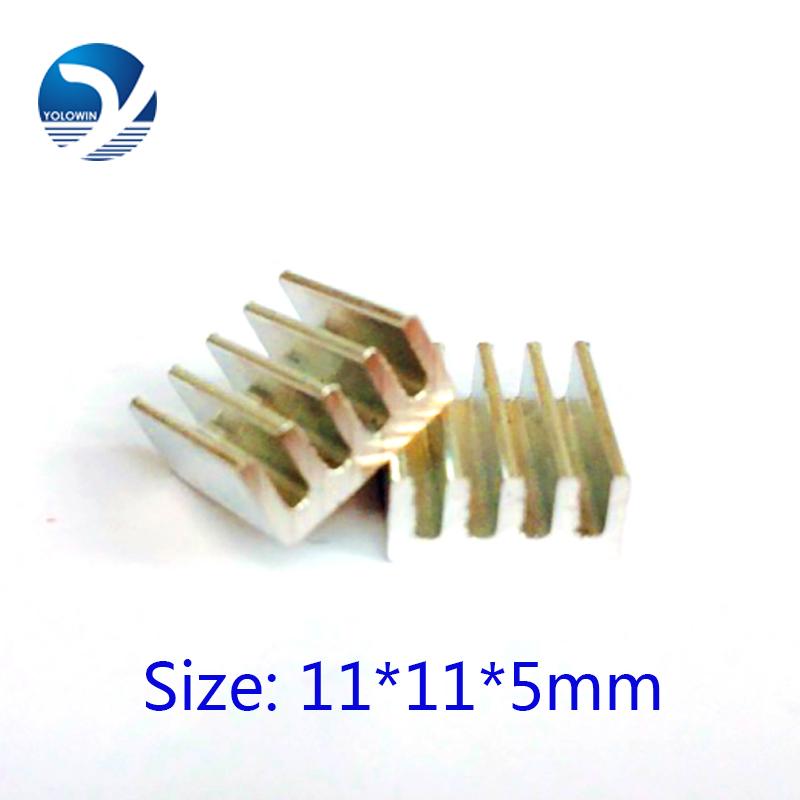 2016 Newest Heatsink 11*11*5mm Extruded Aluminum heatsink Chip CPU GPU VGA RAM LED radiator YL-0020(China (Mainland))
