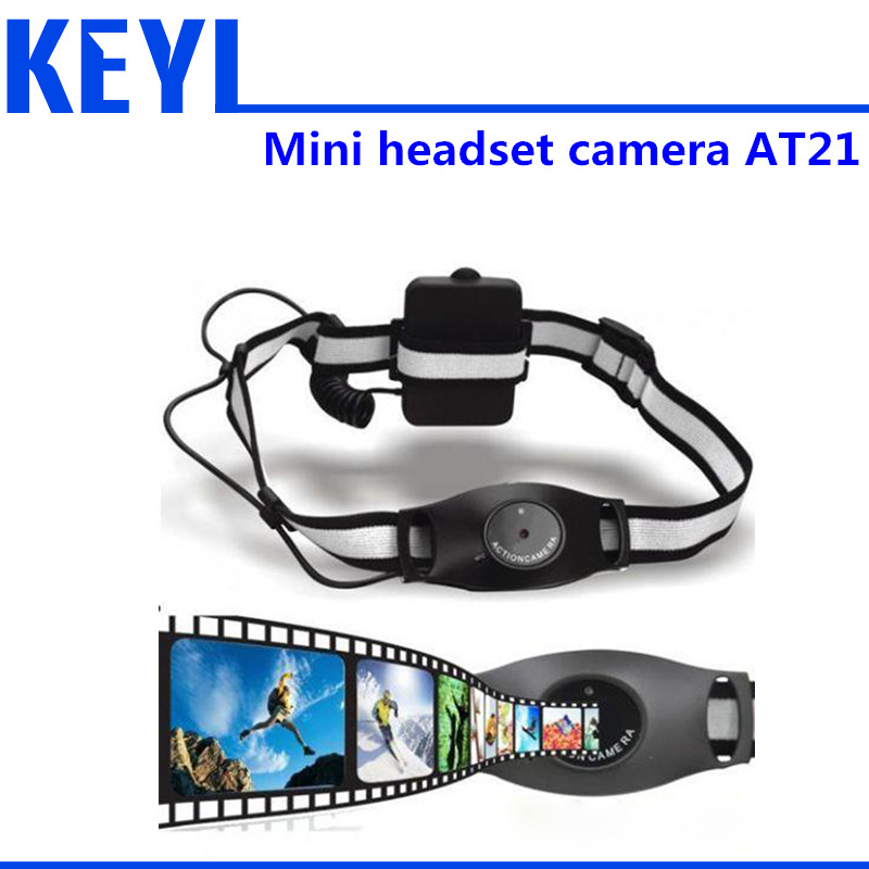 HD 720P Outdoor Sports headset Mini DV camcorder AT21 security camera media medical spy tourism(China (Mainland))