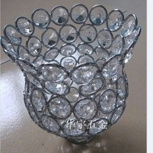 Free shipping Wall lamp pendant light crystal lampshade DIY accessories chandelier Lamp shade for home decorating lamp shades(China (Mainland))