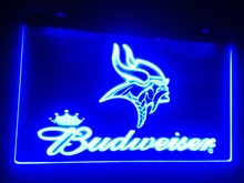 Buy B-211 Minnesota Vikings Budweiser beer bar pub club 3d signs LED Neon Light Sign home decor crafts for $12.59 in AliExpress store