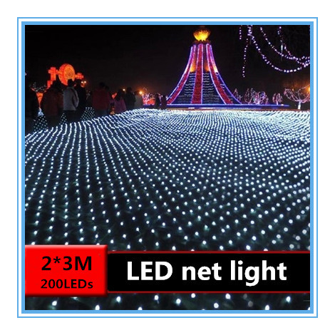 Half String Of Christmas Lights Blinking : Aliexpress.com : Buy LED net lights 2* 3M 200LEDS nets lamp lights flashing string lights ...