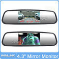 Free shipping 4 3 TFT Car Monitor Mirror View Rearview Auto LCD Screen Backup Camera for