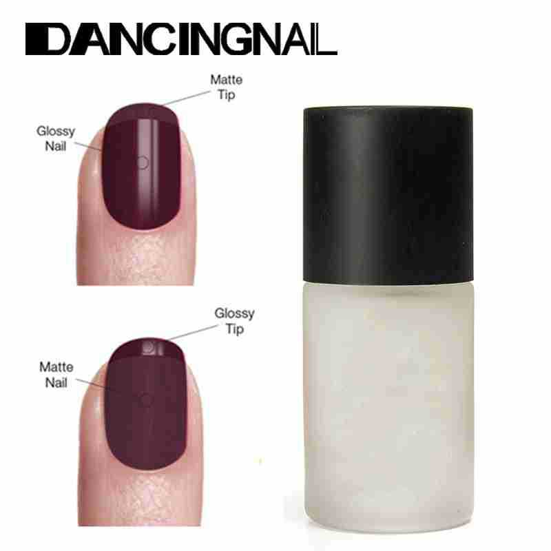 2 Pcs 15ML Magic Super Matte Transfiguration Nail Polish Gel Top Coat Frosted Surface Oil Women Manicure Tools(China (Mainland))