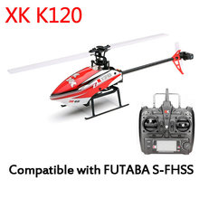 XK K120 Shuttle 6CH Brushless Motor 3D6G System RC Helicopter RTF 2.4GHz Compatible with FUTABA S-FHSS(China (Mainland))