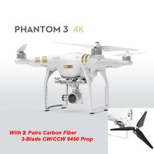 Original DJI Phantom 3 4K 2016 Newest Version With 3-Axis Gimbal Camera RC Drone Quadcopter Helicopter FPV Free Shipping Via EMS(China (Mainland))