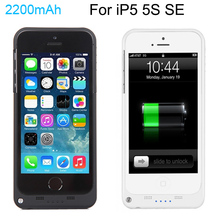 Buy Full 2200mAh External Power bank case pack backup battery Charge case cover iPhone 5 5s USB charger cable line for $11.99 in AliExpress store