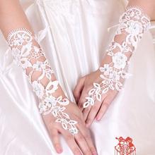 Hot vente 2015 blanc élégant blanc mitaines court paragraphe strass mariée gants de mariée cher Slae(China (Mainland))