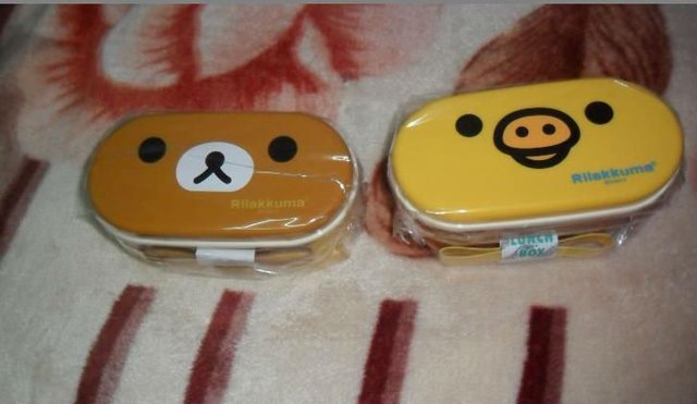 Hot sell heat preservation lunch box Rilakkuma Bento Box 16.5*8 cm two designs Wholesale OR Retail Free shipping