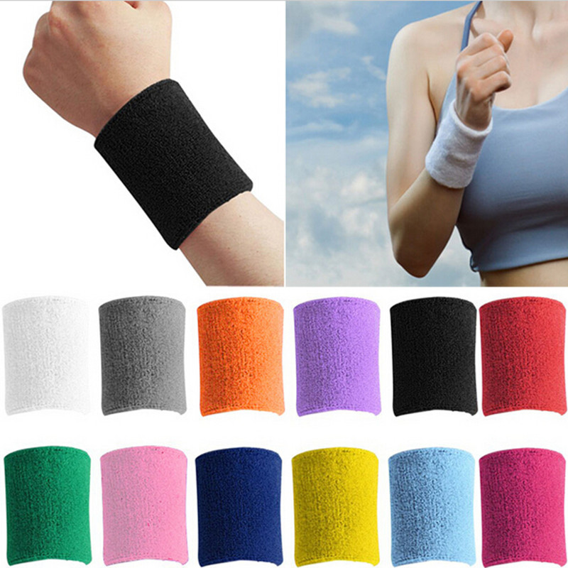 Гаджет  1PC Sweatbands Terry Cloth Cotton Wrist Sweat Band Wristband Sport Yoga Workout Running Women Men Wrist Support 7 Colors  J216 None Спорт и развлечения