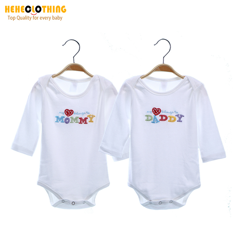 Гаджет  High Quality 100% Cotton Baby Bodysuits Newborn rompers Baby Clothing  Winter Romper Next Baby Wear Clothes For Newborns 2PIECES None Детские товары
