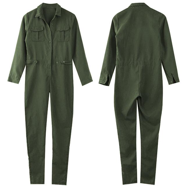 Green Army Romper