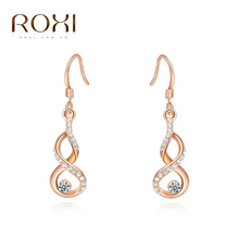 ROXI Free Shipping hook  Earrings For Women Brincos Grandes Rose Gold Plated Earrings Fashion Jewelry(China (Mainland))