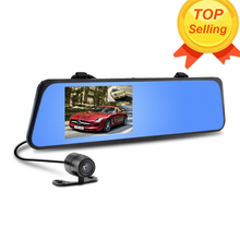 Car Rearview Mirror Camera Video Recorder Car DVR Dual lens Night Vision Full HD 1080P Camcorder With Two Cameras Auto Dash Cam(China (Mainland))
