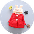 Female baby winter coat 0 1 2 3 baby clothes cotton jacket girl 6 12 months
