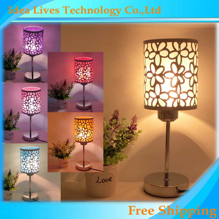 2015 Modern Fashion Table Lamp Bedside Lamp,flower through carved warm white Bedroom Lamp,1pcs/lot(China (Mainland))