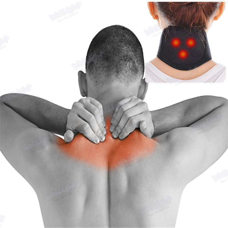 1Pcs magnet Self-heating Neck Relieve pain Magnetic Therapy Cervical spine tingling Protection Heating belt massager Pads(China (Mainland))