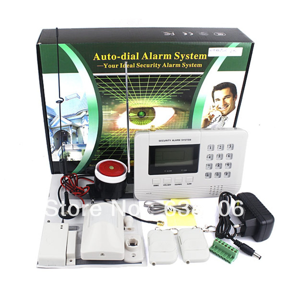 Dropping! Wireless Dual Network Alarm GSM + PSTN Telephone Line LCD Display GSM Burglar Alarm Phone Alarm Free Shipping(China (Mainland))