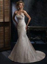 New Design Hot Sale Mermaid Sleeveless Satin and Taffeta Wedding Dress Bridal Gown Bridal Dress Wedding Gown(China (Mainland))