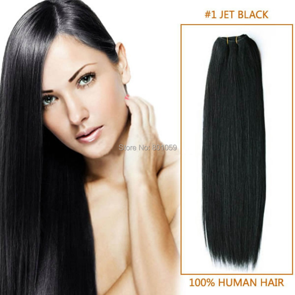 Peruvian Straight Hair Extension 8-30Inch Jet Black 100% Unprocessed Remy Human Silk Weave Grade 5A 100g/Pc - Vane Extensions-Factory Direct Supply store