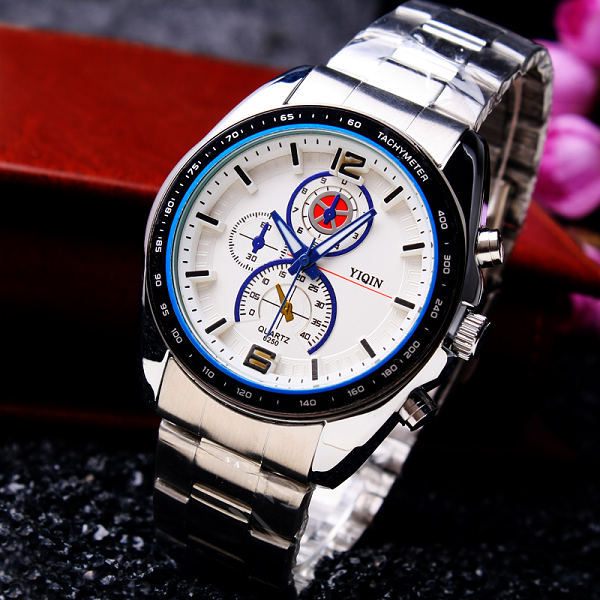 Relojes Hombre 2015 Quartz Watch Fashion Luxury Steel Strip Waterproof Mens Fashion Business Watch Casual  Watch<br><br>Aliexpress