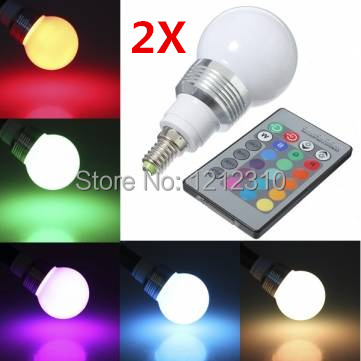 Free Shipping E27 E14 9W AC85-265V RGB led Bulbs Lamp with Remote Control Multiple Colour LED Lighting(China (Mainland))